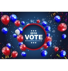 Presidential Election Vote 2016 in USA Background vector