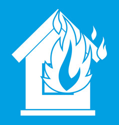 Preventing fire icon white vector