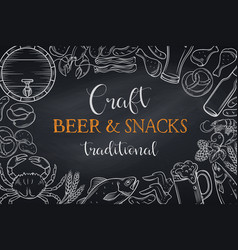pub food and beer template vector image