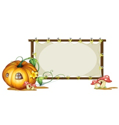 Pumpkin banner copyspace vector