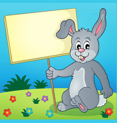 Rabbit with sign theme image 3 vector