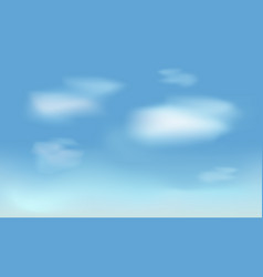 realistic white clouds on blue sky background vector image