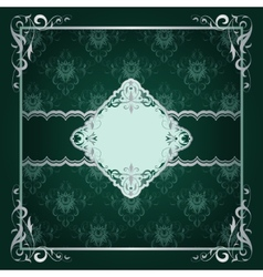 Royal frame green background vector