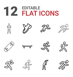Run icons vector