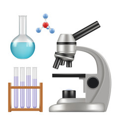 science equipment microscope scientific chemical vector image
