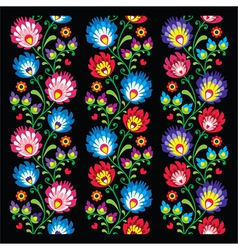 Seamless long Polish folk art pattern vector