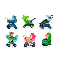 Set of of six toddlers in vector