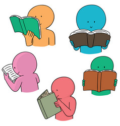 set of reader vector image
