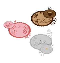 set of vintage speech bubbles with design vector image