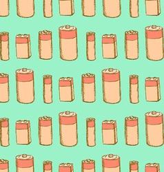 Sketch batteries in vintage style vector image