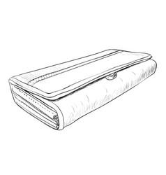 sketch of wallet vector image