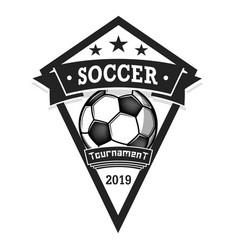 Soccer logo design template vector