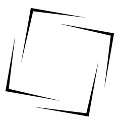 Square frame - border element isolated on white vector