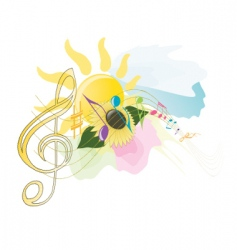 Summer music vector