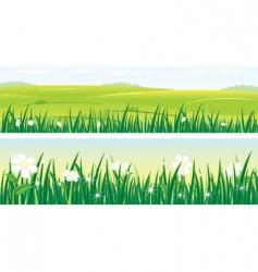 Summer panorama vector