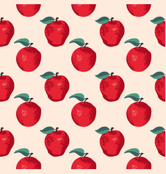 summer pattern with apples seamless texture design vector image