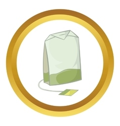Teabag of green tea icon vector