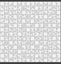 the 196 grey outline jigsaw puzzle of banner vector image