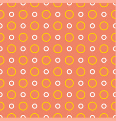 tile summer pattern with yellow and white dots vector image