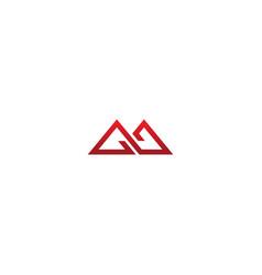 triangle conenct line logo vector image