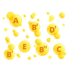Vitamins oil detox capsules pharmaceutical vector