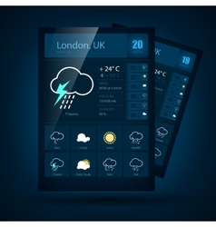 Weather informer vector image