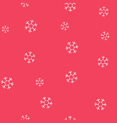white snowflakes on a pink background seamless vector image