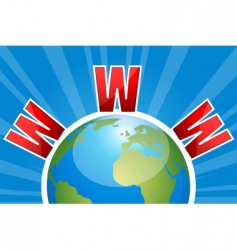 www on globe vector image