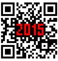 2015 New Year counter QR code vector image vector image