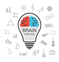 353analysis and creative brain vector image vector image