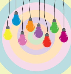 bulb color vector image