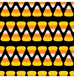 Candy corn line Happy Halloween Seamless Pattern vector image