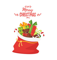 christmas new year greeting card vector image