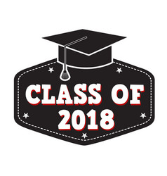 class of 2017 label vector image