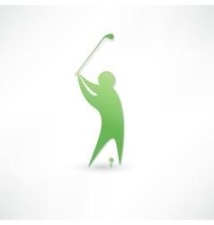 Golfer icon vector image vector image