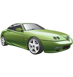 green sport car vector image vector image