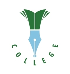 logo college vector image