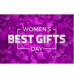 womens day best gifts vector image vector image