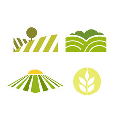 abstract colored agriculture logotype isolated on vector image vector image