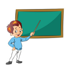 boy teaching vector image vector image