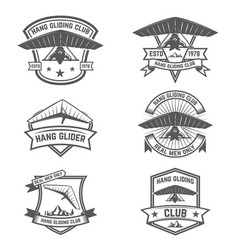 hang gliding club emblems design elements for vector image