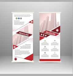 roll up banner vector image vector image