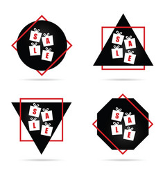 sale icon in red and black color vector image vector image