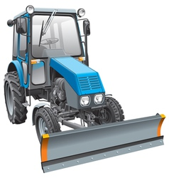 blue snow fighter tractor vector image