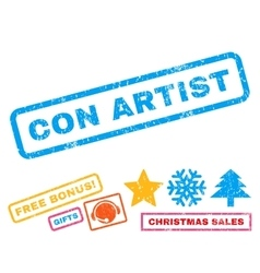 Con Artist Rubber Stamp vector image vector image