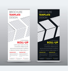design a universal business roll up banner with a vector image