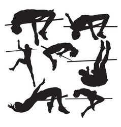 high jump vector image vector image