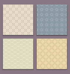 Seamless patterns in arabian style vector