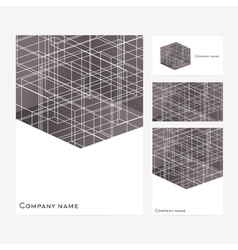 Stationery template design with square elements vector image