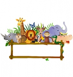 animal cartoon group vector image vector image